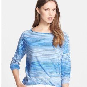 Vince Santorini Blue Boatneck Sweater